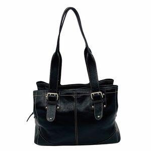 Etienne Aigner Black Leather Shoulder Bag